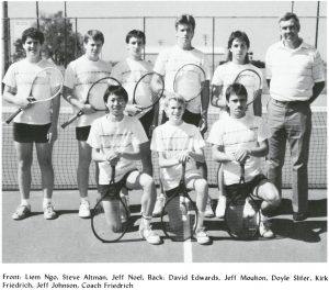 David Edwards and the Taylorville Boys Tennis Team around 1989